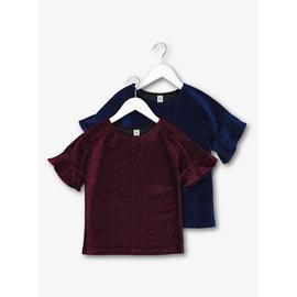 Pink & Blue Glitter Party Tops 2 Pack