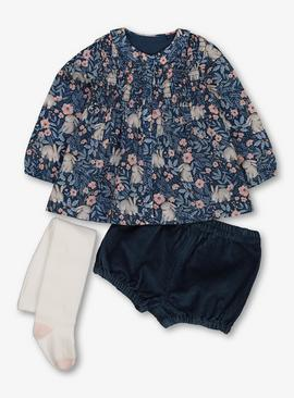 Blue Bunny Shirt With Bloomers & Tights
