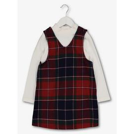 Multicoloured Tartan Pinafore & Top Set
