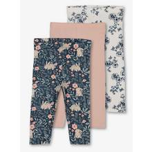 Bunny Print, Floral & Pink Leggings 3 Pack