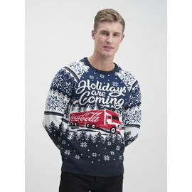 Christmas Coca Cola Navy 'Holidays Are Coming' Jumper