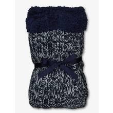 Navy Blue Single Knitted Cosy Slipper Socks