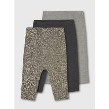 Leopard Print & Grey Hareem Leggings 3 Pack