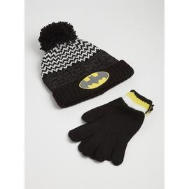 Batman Black Hat & Gloves 2 Piece Set