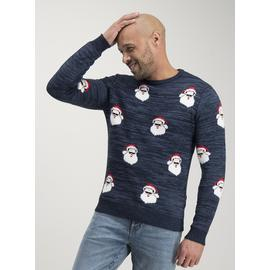 Christmas Mini Me Navy Santa Jumper