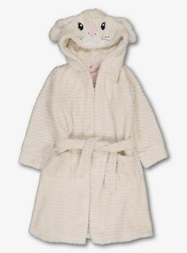 Cream Bunny Dressing Gown