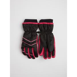 Online Exclusive Black & Pink Ski Glove - One Size