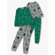 Green & Grey Dinosaur Print Pyjamas 2 Pack
