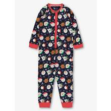 Christmas Navy Festive Print All In One