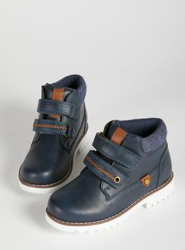 Online Exclusive Navy Twin Strap Boots