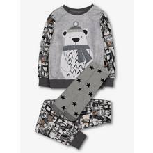 Grey Polar Bear Fleece & Socks