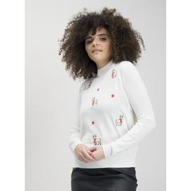Christmas Cream Reindeer Jumper