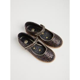 Black Glittery Party Bumper Shoes