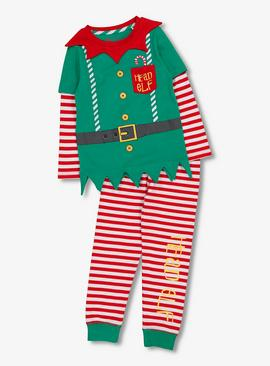 Christmas Multicoloured Elf Pyjamas