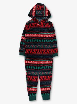 Christmas Multicoloured Family Fair Isle All In One