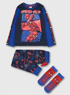 Marvel Spider-Man Blue Pyjamas & Socks