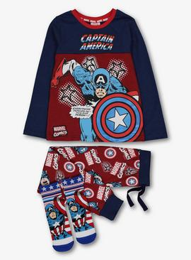 Marvel Captain America Multicoloured Pyjamas & Socks