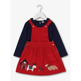 Red & Blue Pinafore & Top