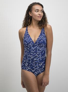 Online Exclusive Secret Shaping Navy Spot Swimsuit