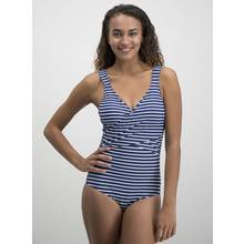 Online Exclusive Secret Shaping Navy Striped Swimsuit