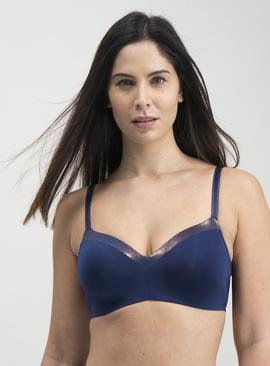Navy & Pink Superfine Microfibre Smoothing Bra 2 Pack