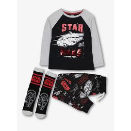Star Wars Black Pyjamas & Socks Set