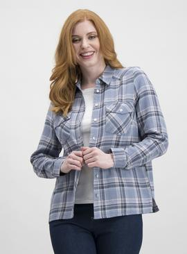 Multicoloured Check Shirt With Long Sleeves