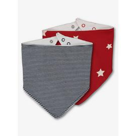 Multicoloured Star & Stripe Hanky Bibs 2 Pack - One Size