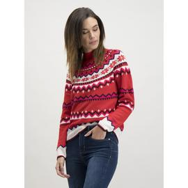 Online Exclusive Christmas Red Fair Isle Jumper