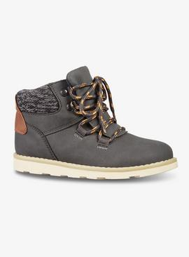 Grey Hiker Style Boots