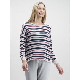 Multicoloured Stripe Soft Knit Long Sleeve Top