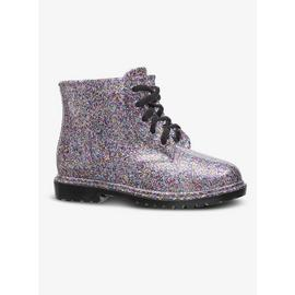 Multicoloured Glitter Lace Up Welly Boots