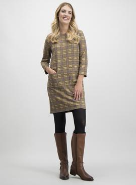 Multicoloured Brushed Check Shift Dress