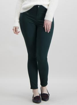 Online Exclusive Brown Zip Detail Skinny Jeans