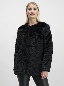 Online Exclusive Black Arctic Faux Fur Jacket