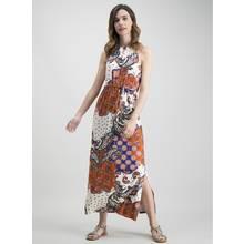 Multicoloured Paisley Halterneck Maxi Dress