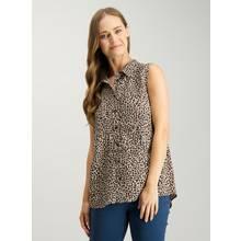 Multicoloured Leopard Print Sleeveless Shirt
