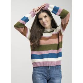 Multicoloured Metallic Stripe Jumper