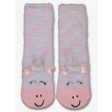 Pink Stripe Unicorn Cosy Socks