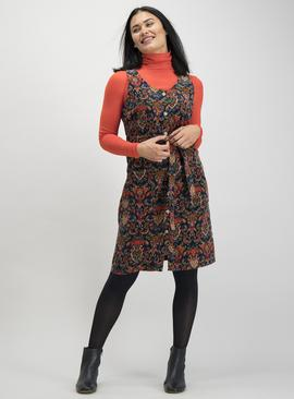 Online Exclusive Multicoloured Paisley Corduroy Pinafore