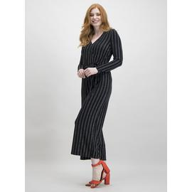 Black Glitter Stripe Jumpsuit