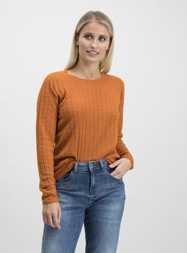 Burnt Orange Soft Touch Mini Cable Jumper