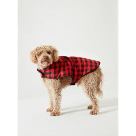 Christmas Family Red & Black Check Dog Coat