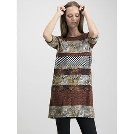 Online Exclusive Multicoloured Stripe Animal Print Tunic
