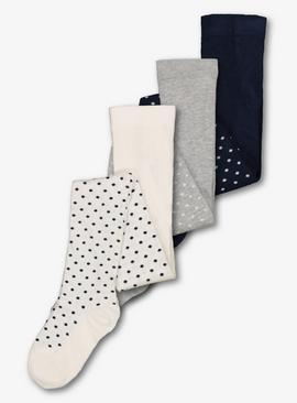 Multicoloured Spot Tights 3 Pack