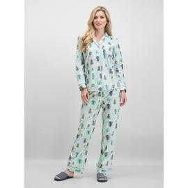 Christmas Blue Snow Globe Print Traditional Pyjamas