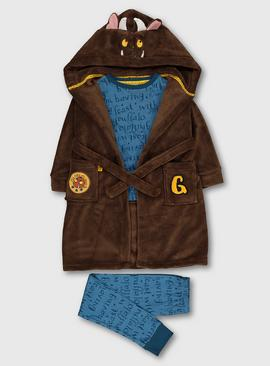 The Gruffalo Blue Pyjamas & Brown Dressing Gown