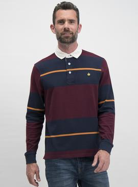 Dark Red Long Sleeve Rugby Shirt