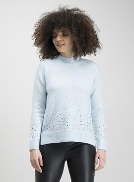 Mint Green Stud Ombre Jumper