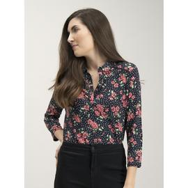 Floral Spot Print Long Sleeve Top